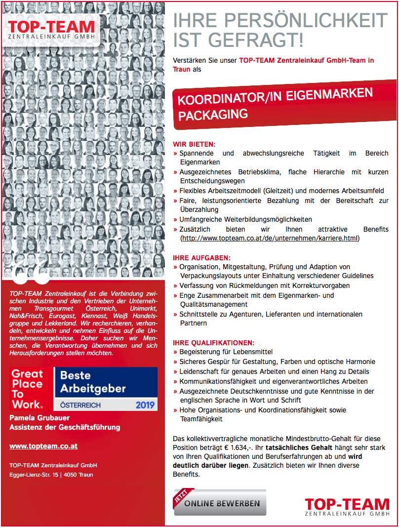 <strong>KOORDINATOR/IN EIGENMARKEN PACKAGING</strong><br />